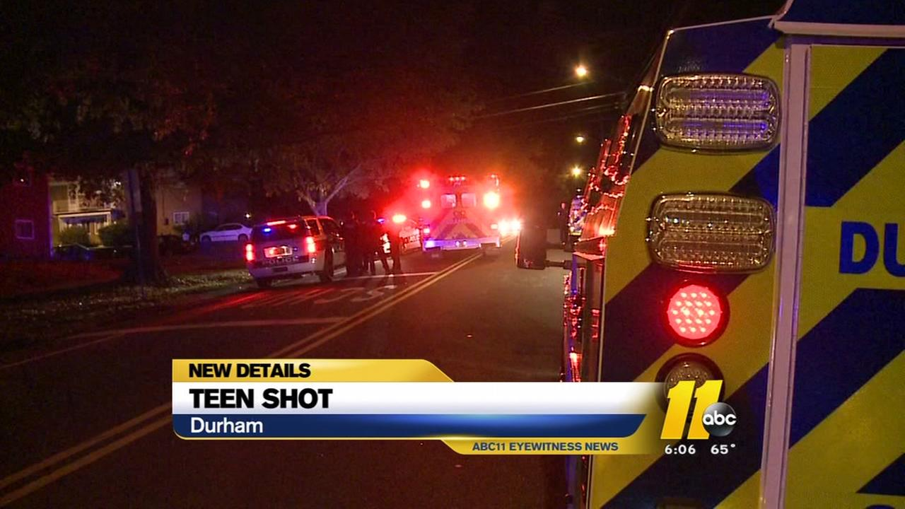 Teen shot near Durham high school