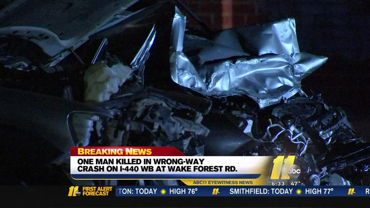 Person killed in wrong-way crash on I-440