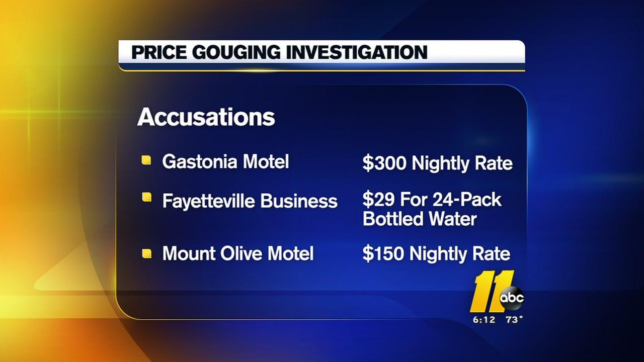 NC Attorney General looking into price gouging during hurricane