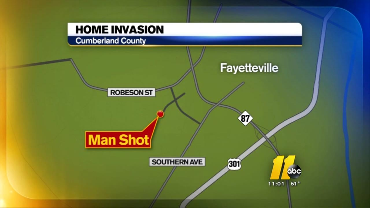 Man shot after home invasion in Fayetteville