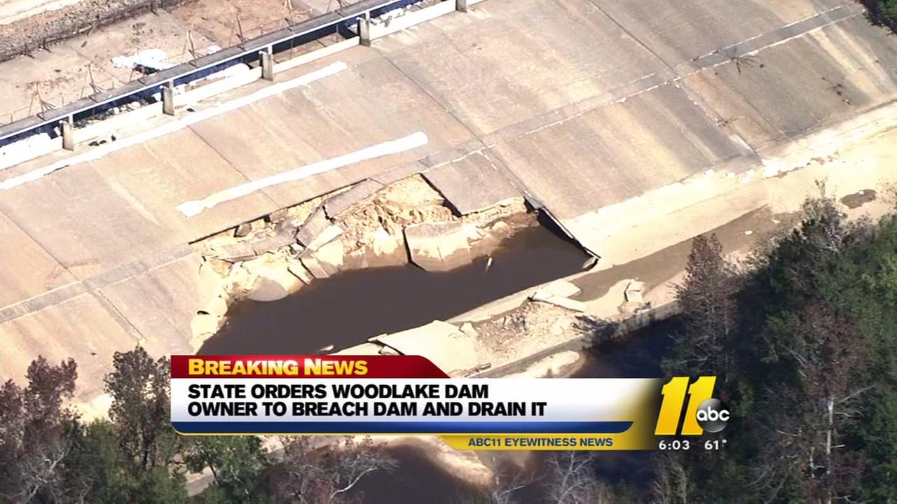 Woodlake Dam ordered to be breached