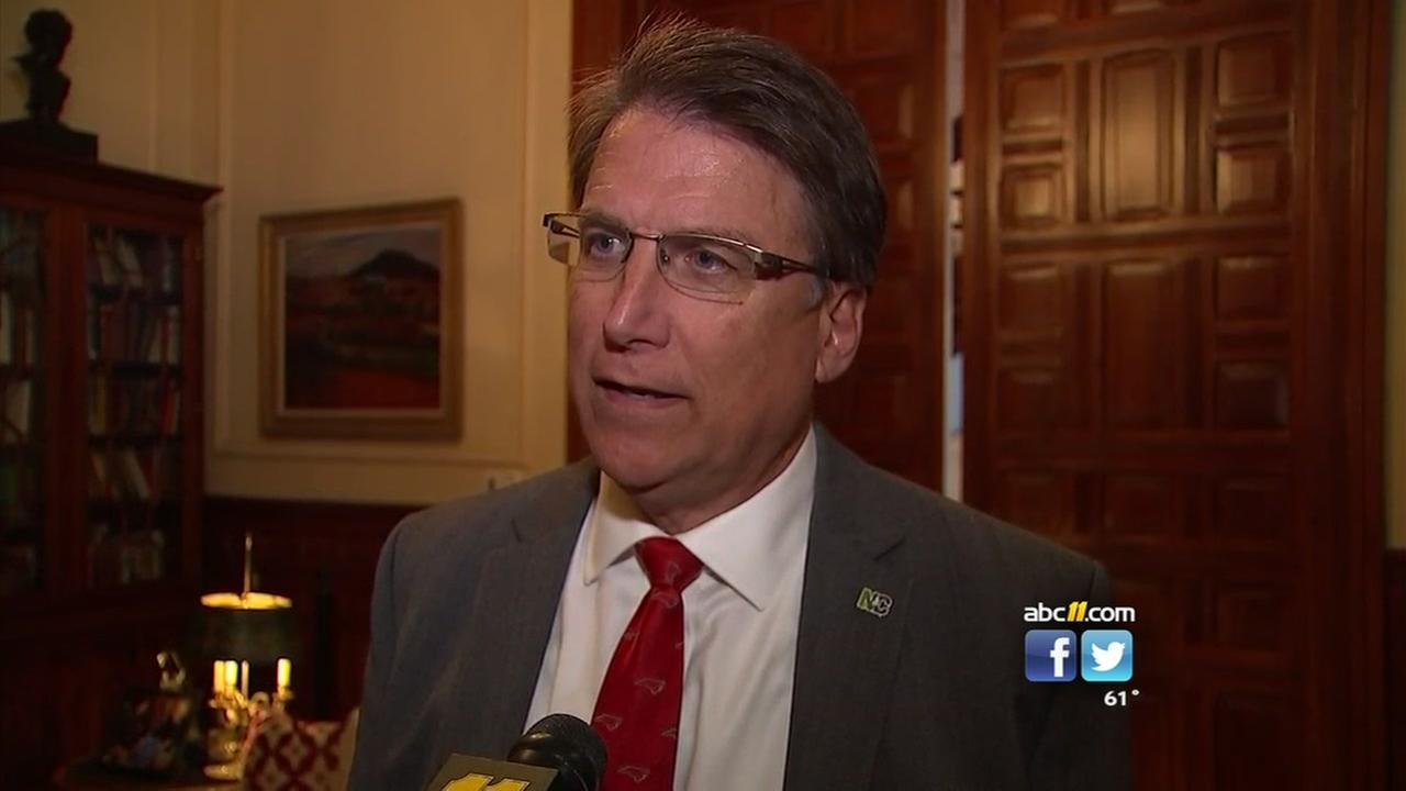 McCrory says no timeline for possible special session
