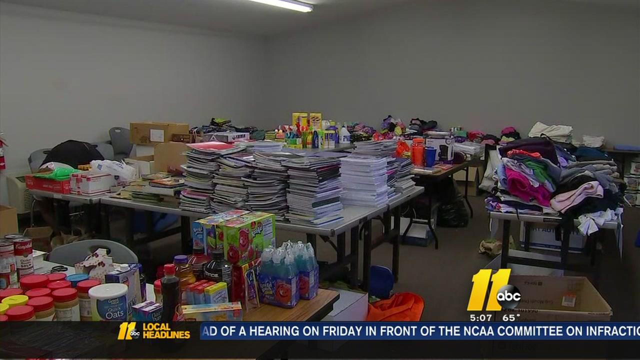 Items being donated to Princeville students
