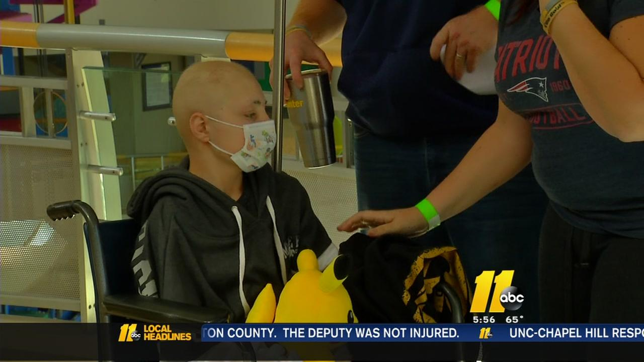 Wake Forest boy with cancer headed home