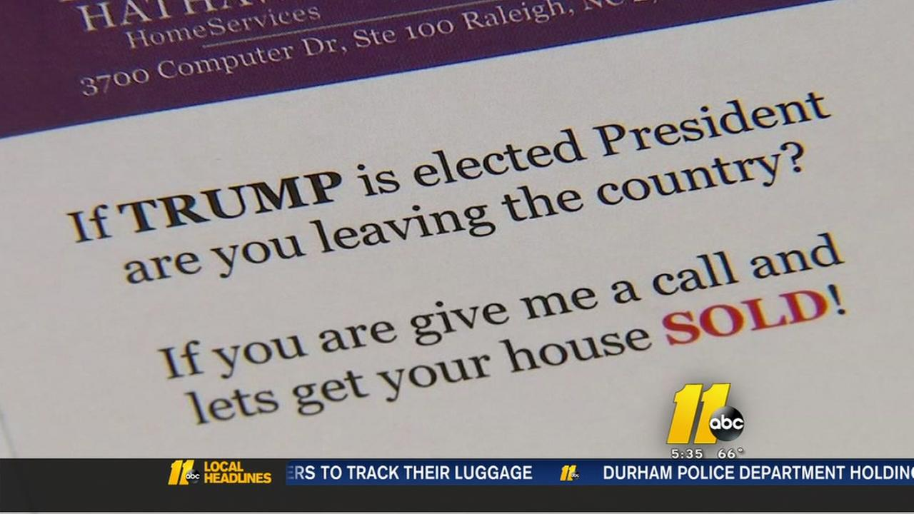 Raleigh realtor can sell your house if Trump is elected