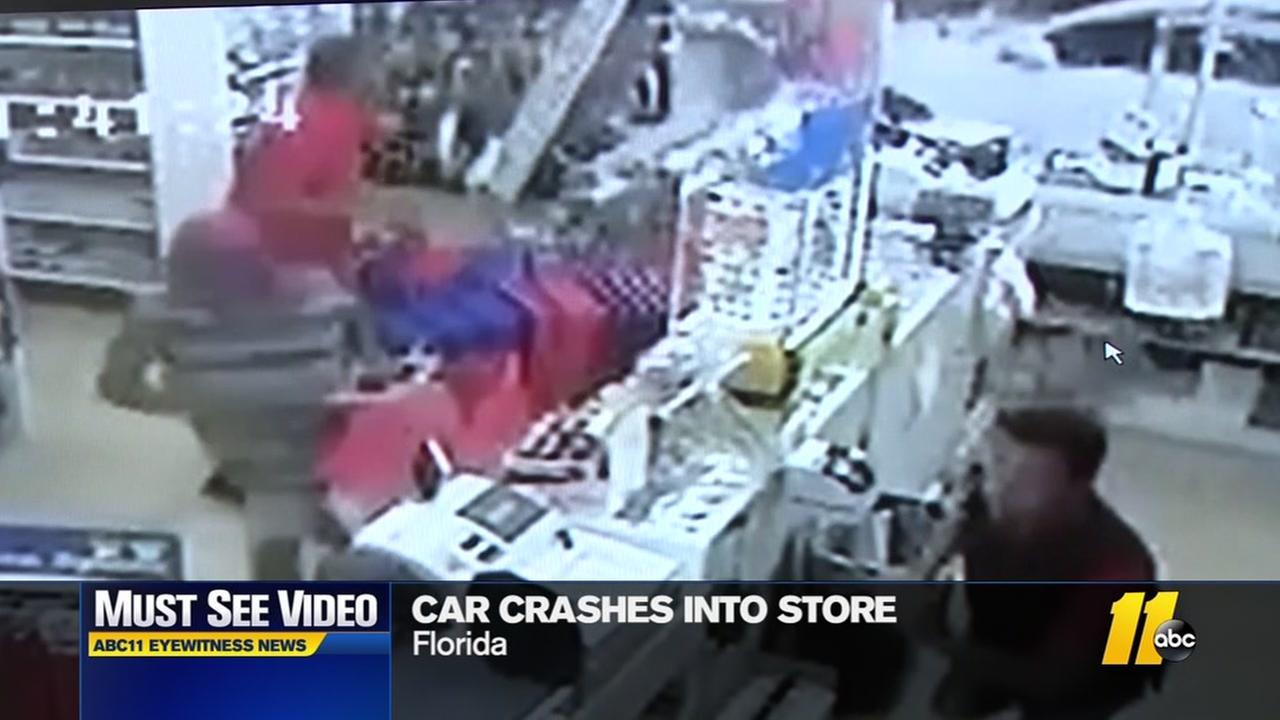 Car crashes into beauty store