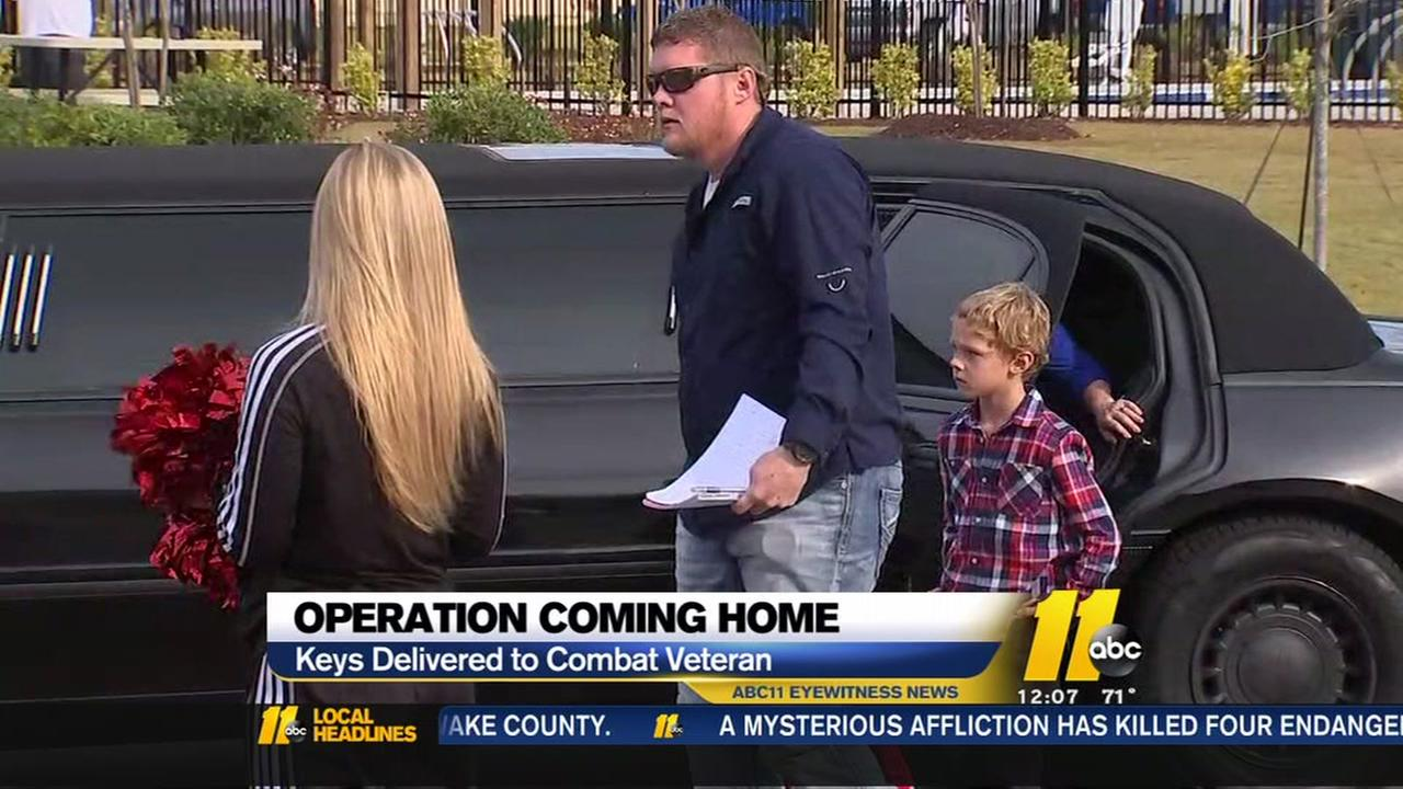 Combat veteran given keys to new home