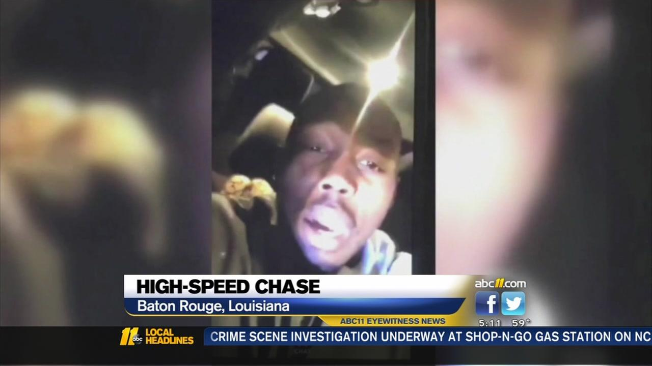 Man Snapchats his high-speed chase