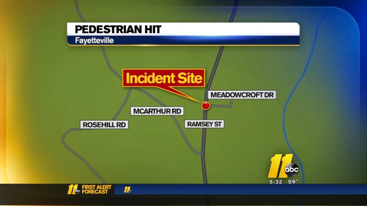 Pedestrian hit in Fayetteville