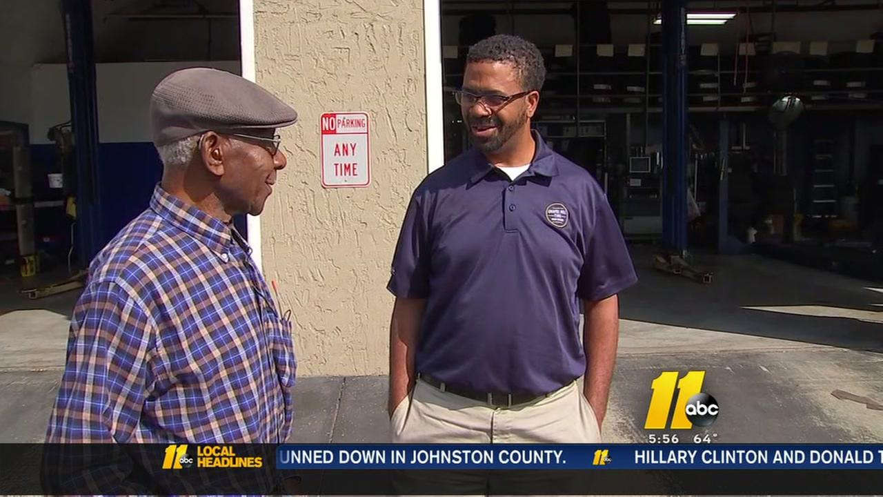 Elderly man surprised with act of kindness at Chapel Hill auto shop