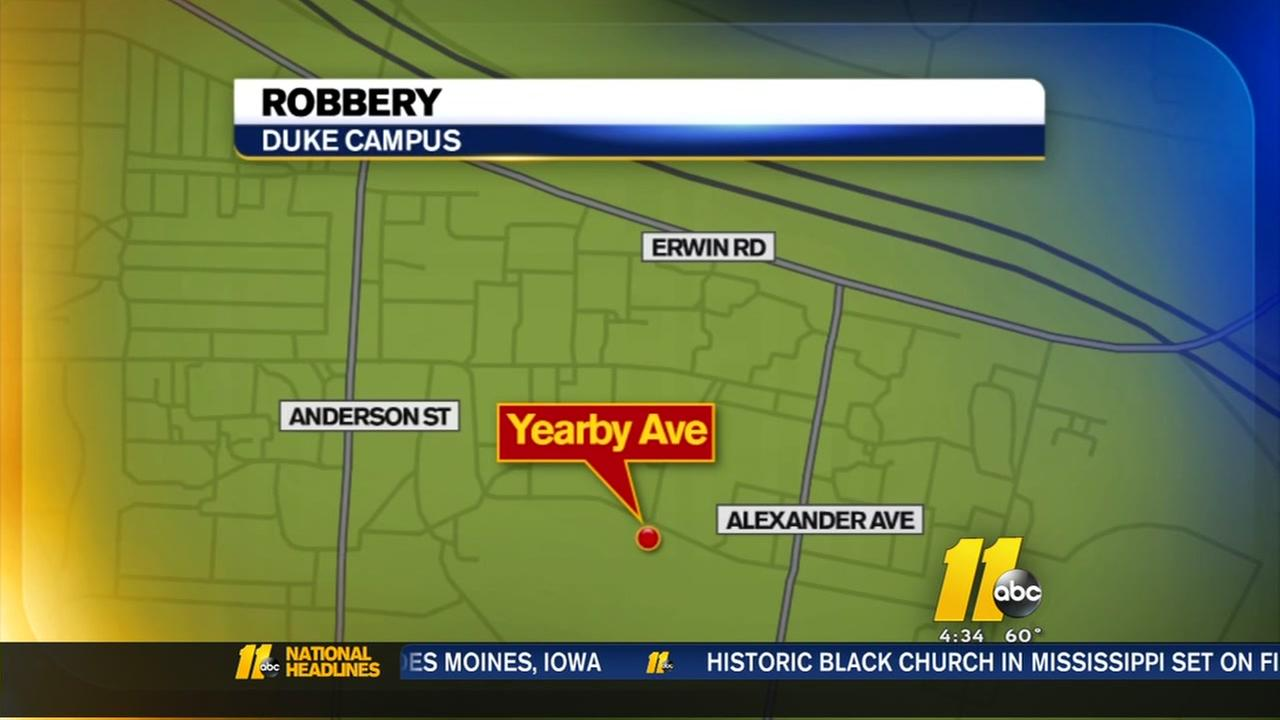 Delivery person robbed on Dukes campus