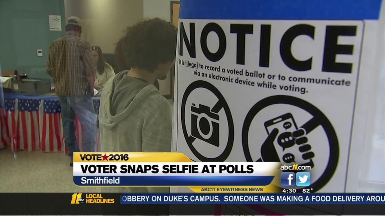 Woman could be charged for polling place