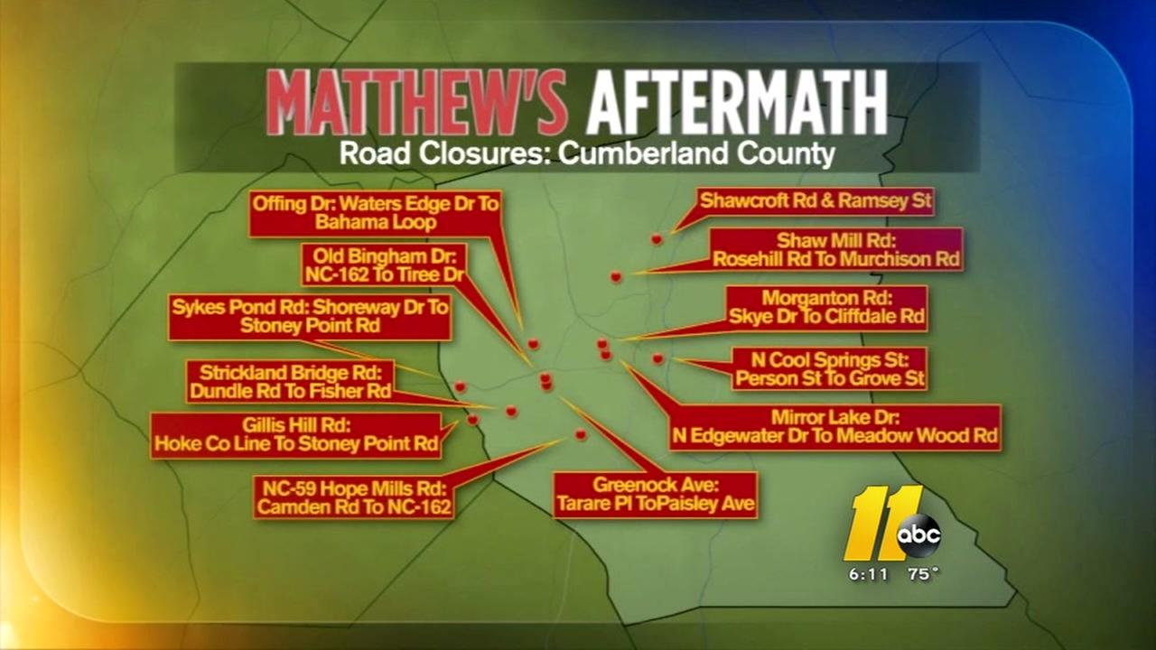 Many Cumberland County roads remain closed