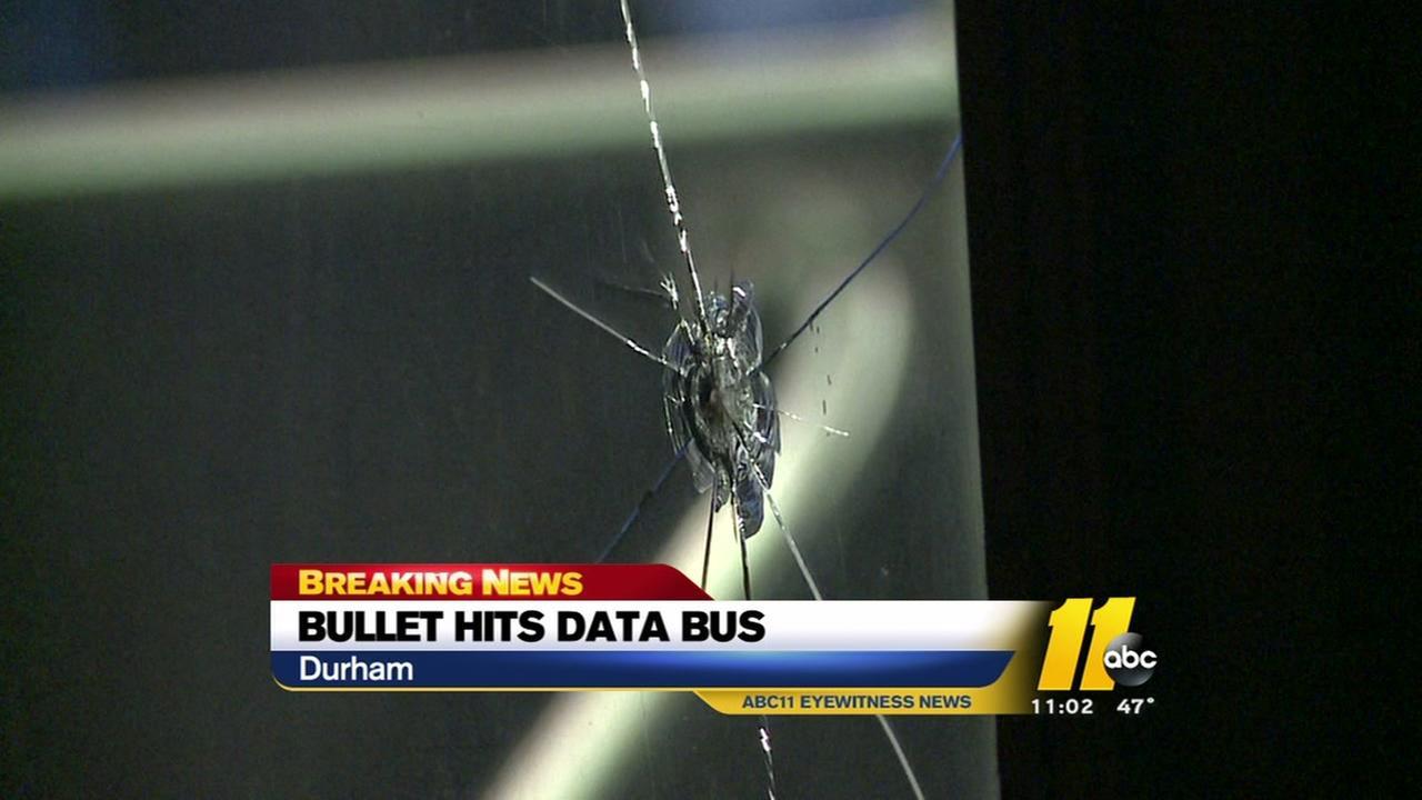 Police investigating after bullet hits DATA bus