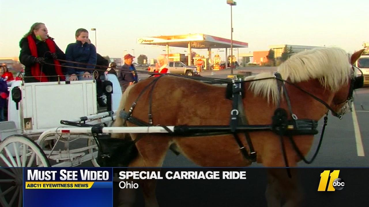 Special carriage ride for cancer patient