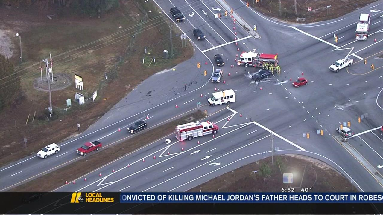 Crash in Wake County slows commute