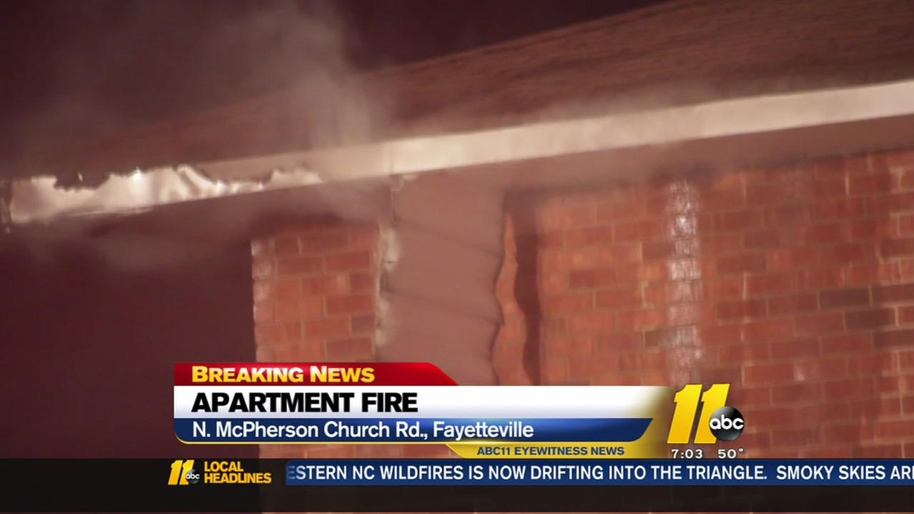 Apartment catches fire in Fayetteville