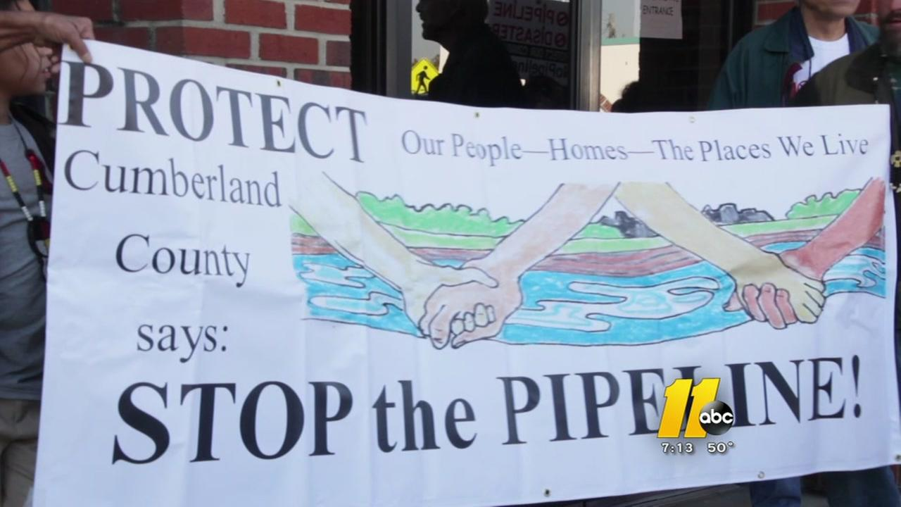 Cumberland County residents protest pipeline