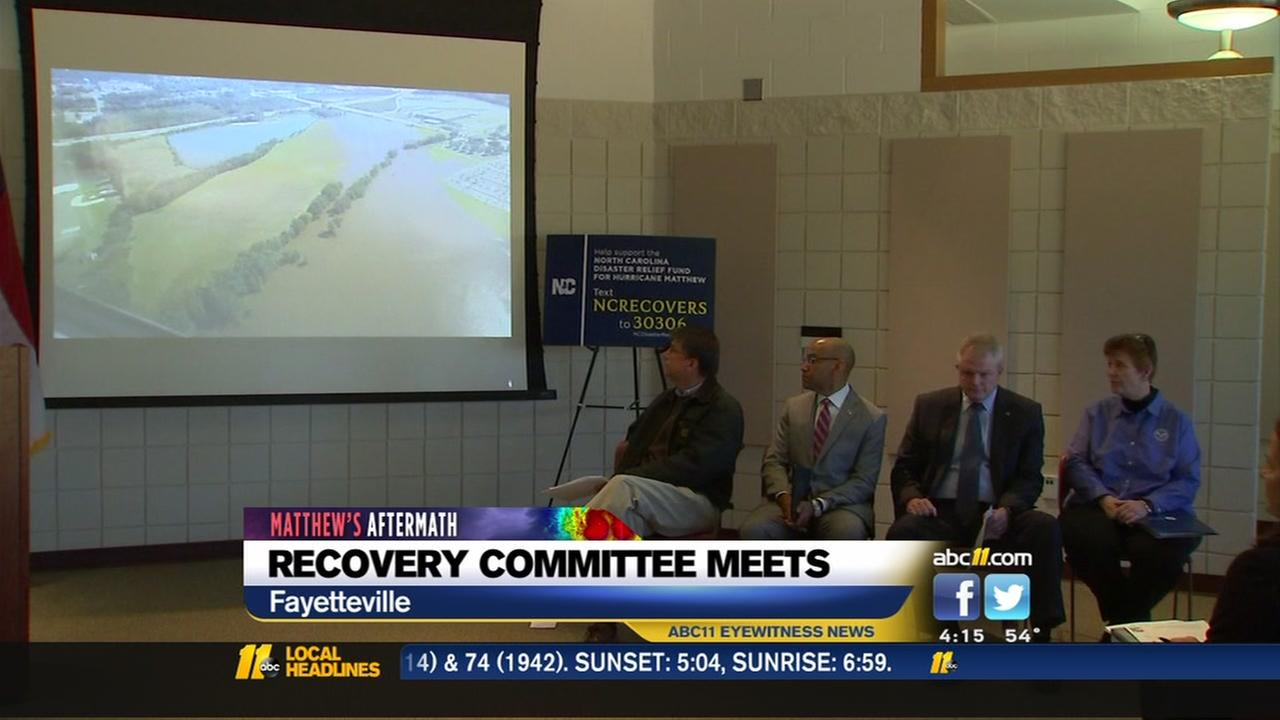 Hurricane Recovery Committee meets in Fayetteville