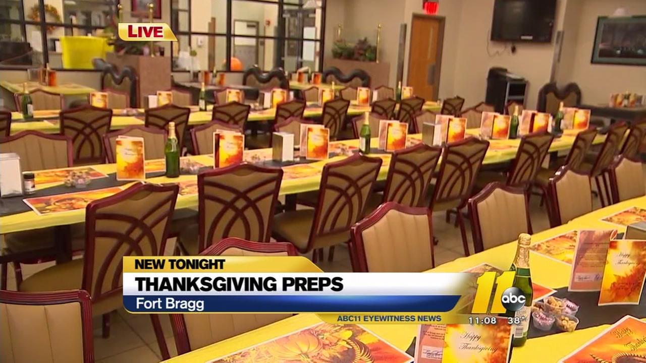 Thanksgiving prep underway at Fort Bragg