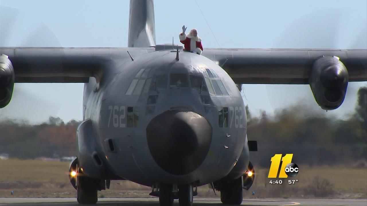Santa arrives -- in a C-130