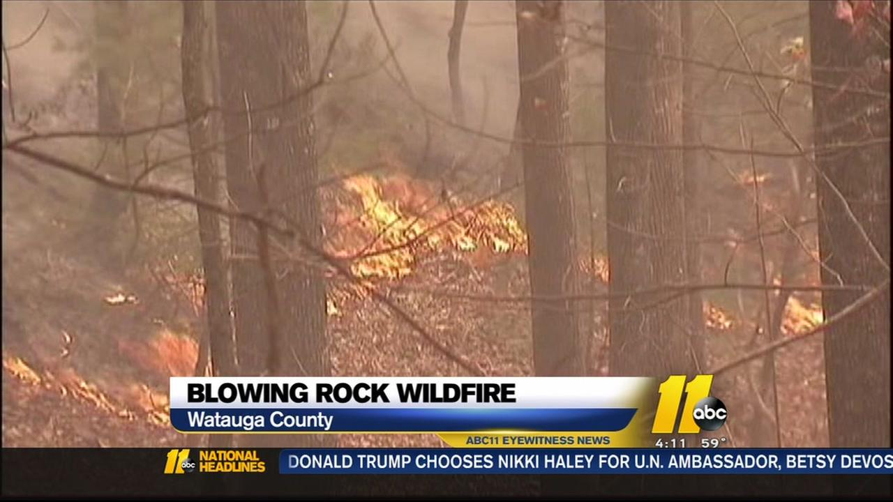 Wildfires continue to burn in western NC