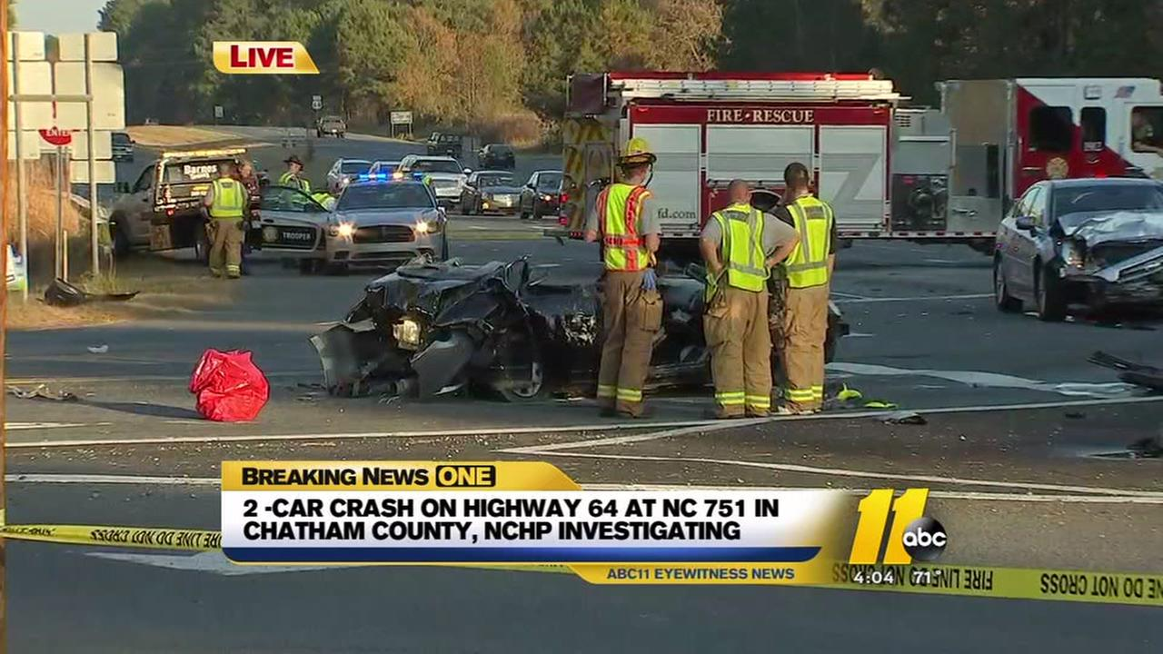 Serious two-car crash in Chatham County