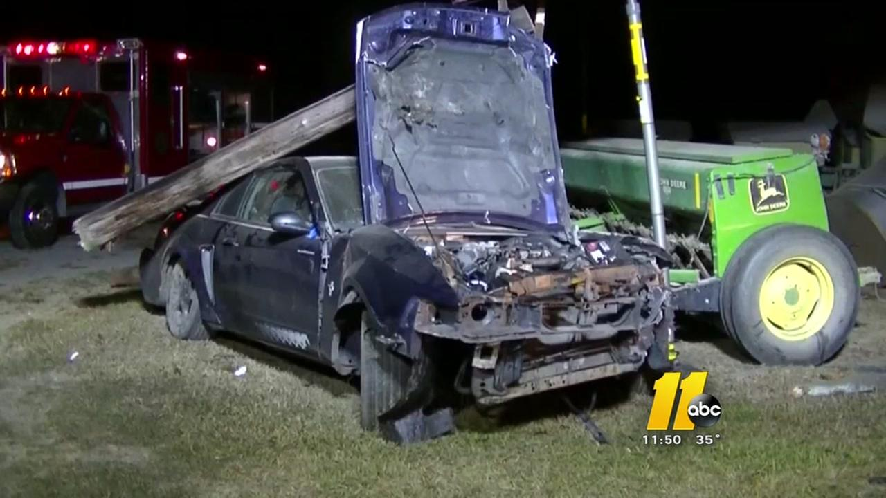 Teen taken to hospital after back wreck in Johnston County