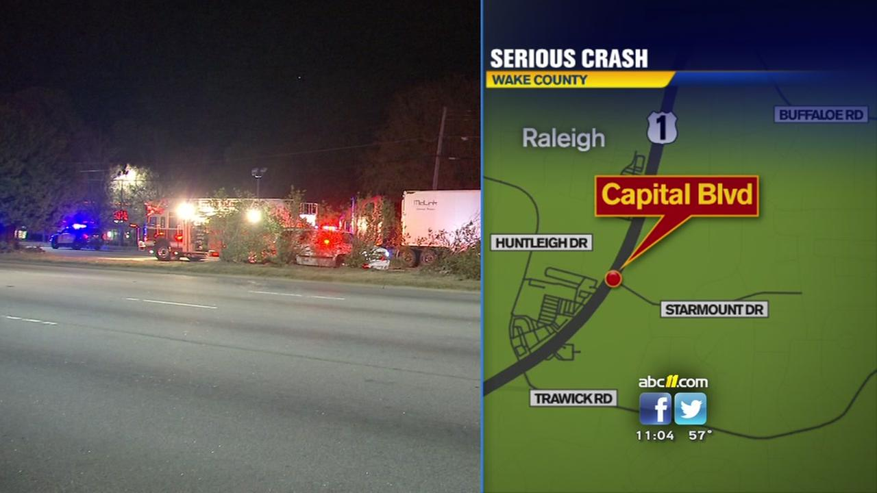 Serious crash on Capital Blvd