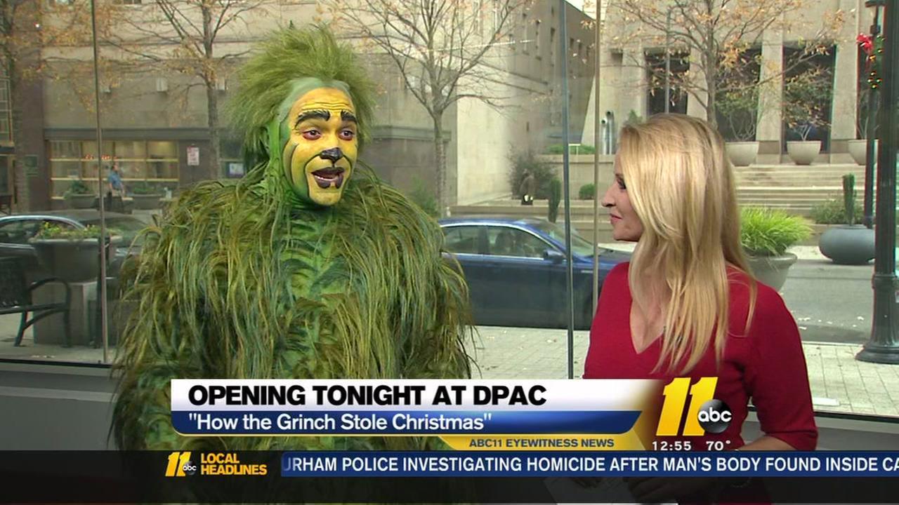 Grinch visits ABC11 studios