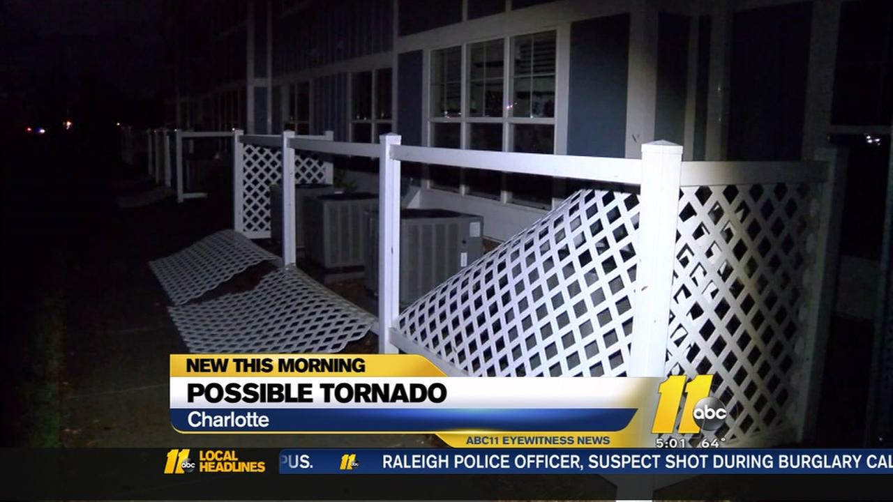 NWS investigates possible tornado in Charlotte