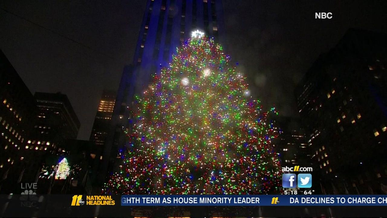 Rockefeller Christmas Tree lit in NYC