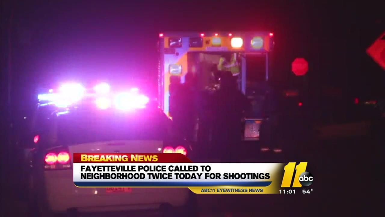 Two shootings rock same Fayetteville neighborhood