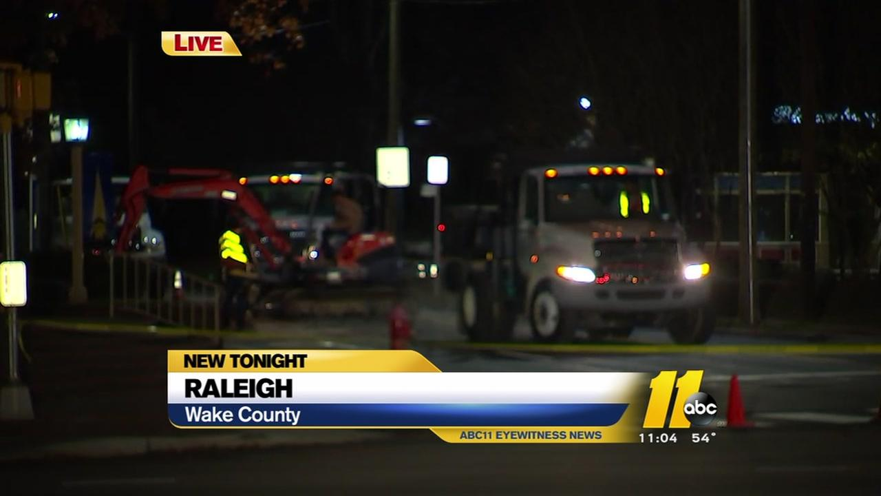 Work continues to repair gas leak in Raleigh