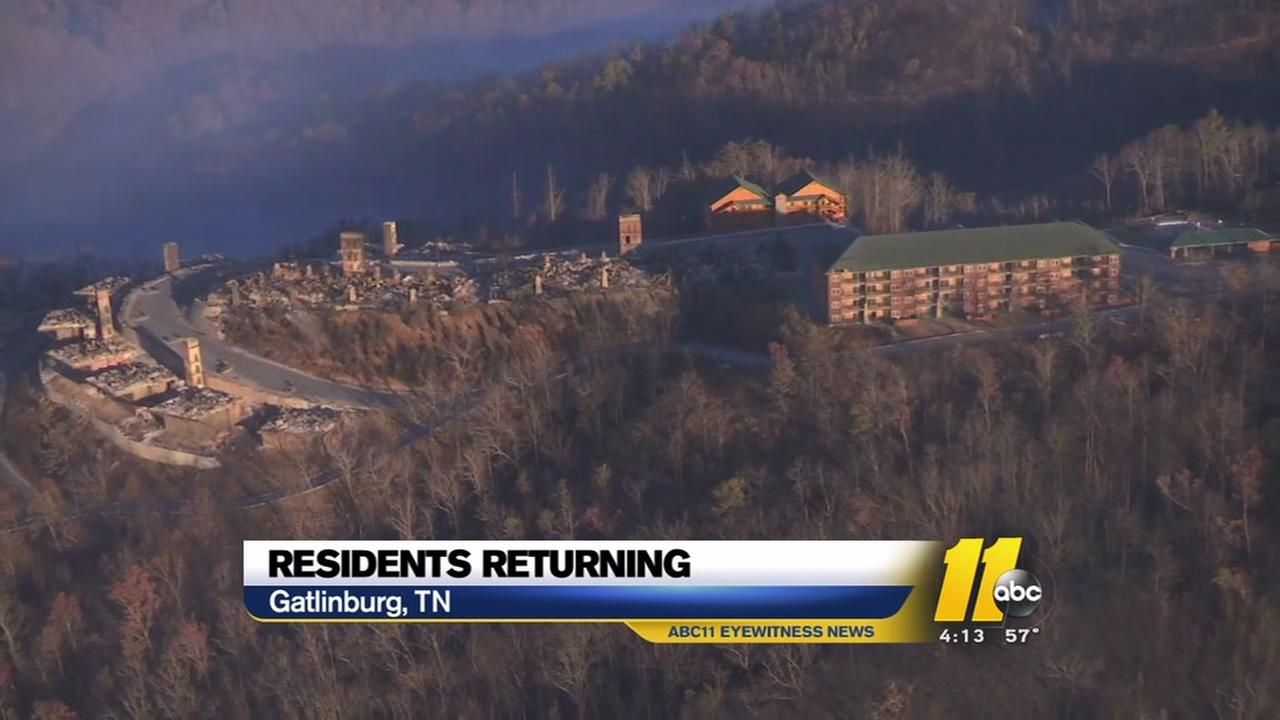 Death toll at 13 as Gatlinburg residents start returning home