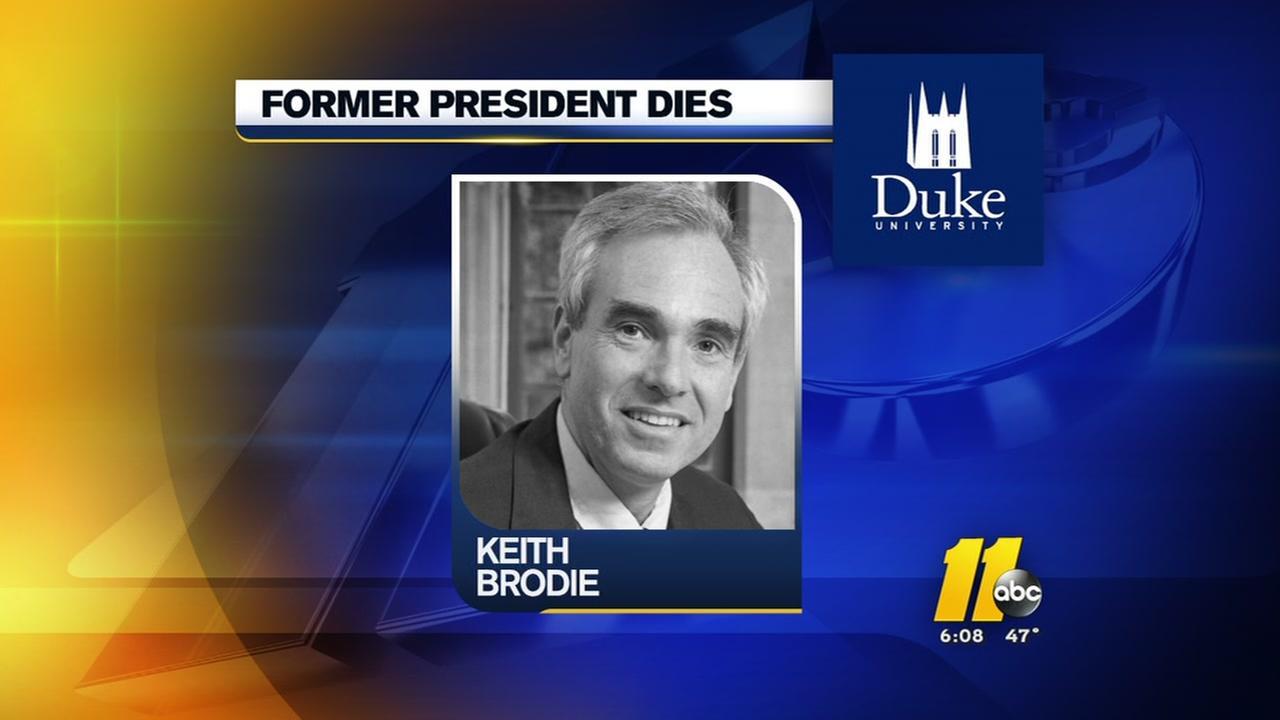 Former Duke University president dies