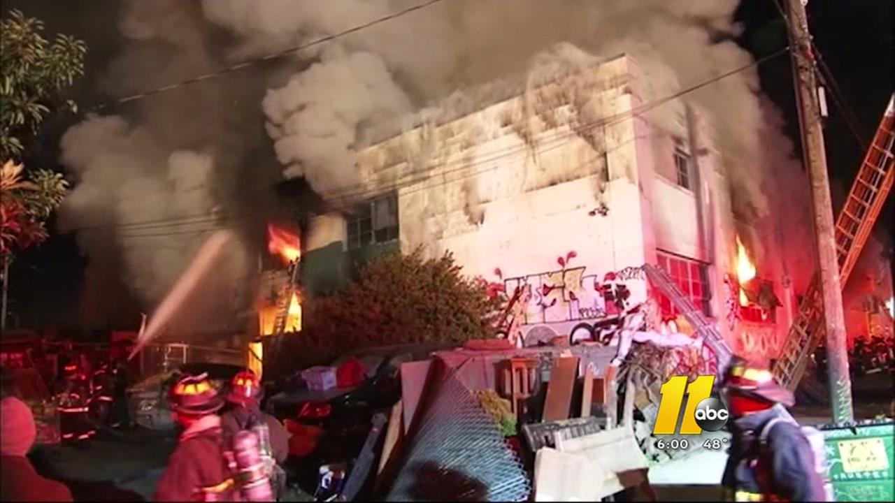 Nine confirmed dead in Oakland building fire