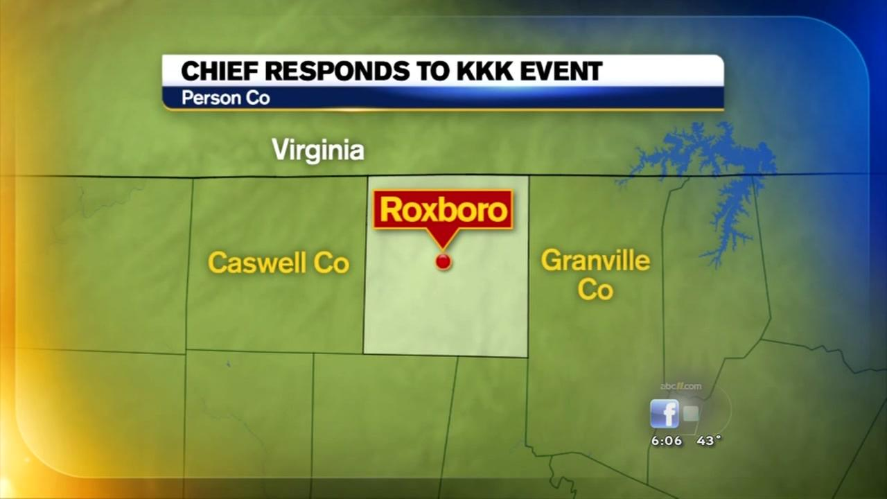 Roxboro police to hold meeting after KKK event