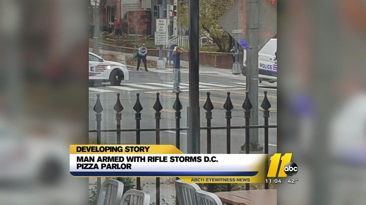 Salisbury man armed with rifle storms DC pizza parlor