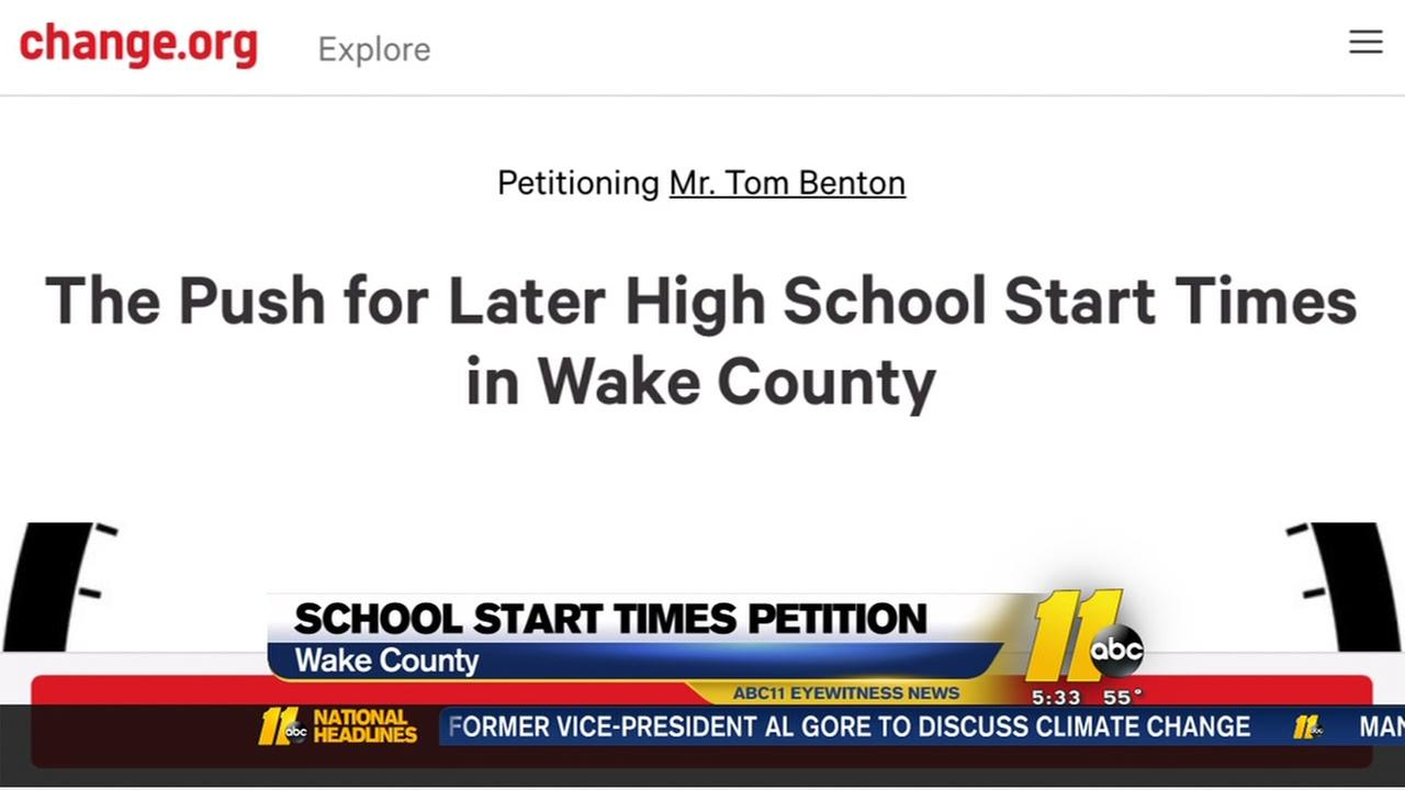 Wake County students launch petition for later start times