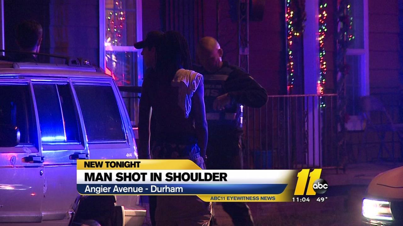 Man shot in shoulder