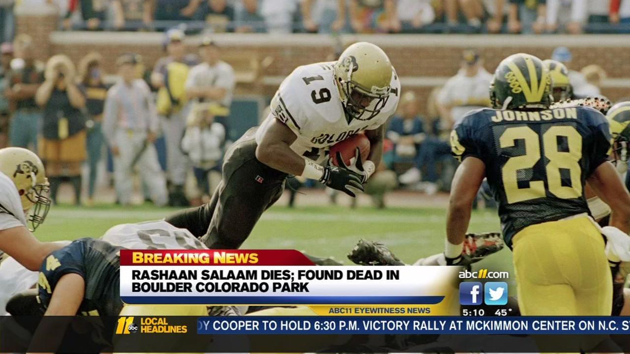 Rashaan Salaam found dead in Colorado park