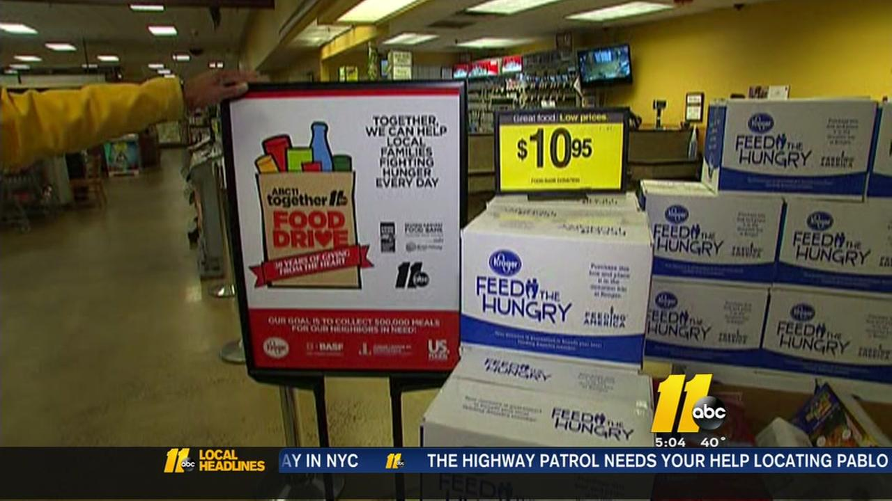 ABC11 Together Food Drive kicks off