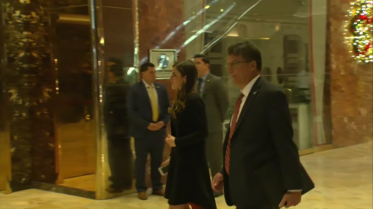 Pat McCrory arrives at Trump Tower
