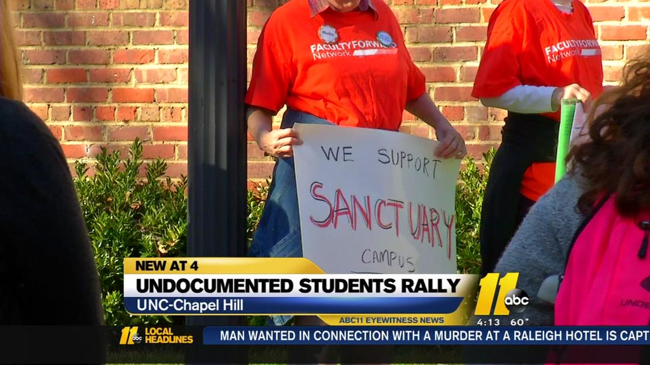 Undocumented students rally at UNC Chapel Hill