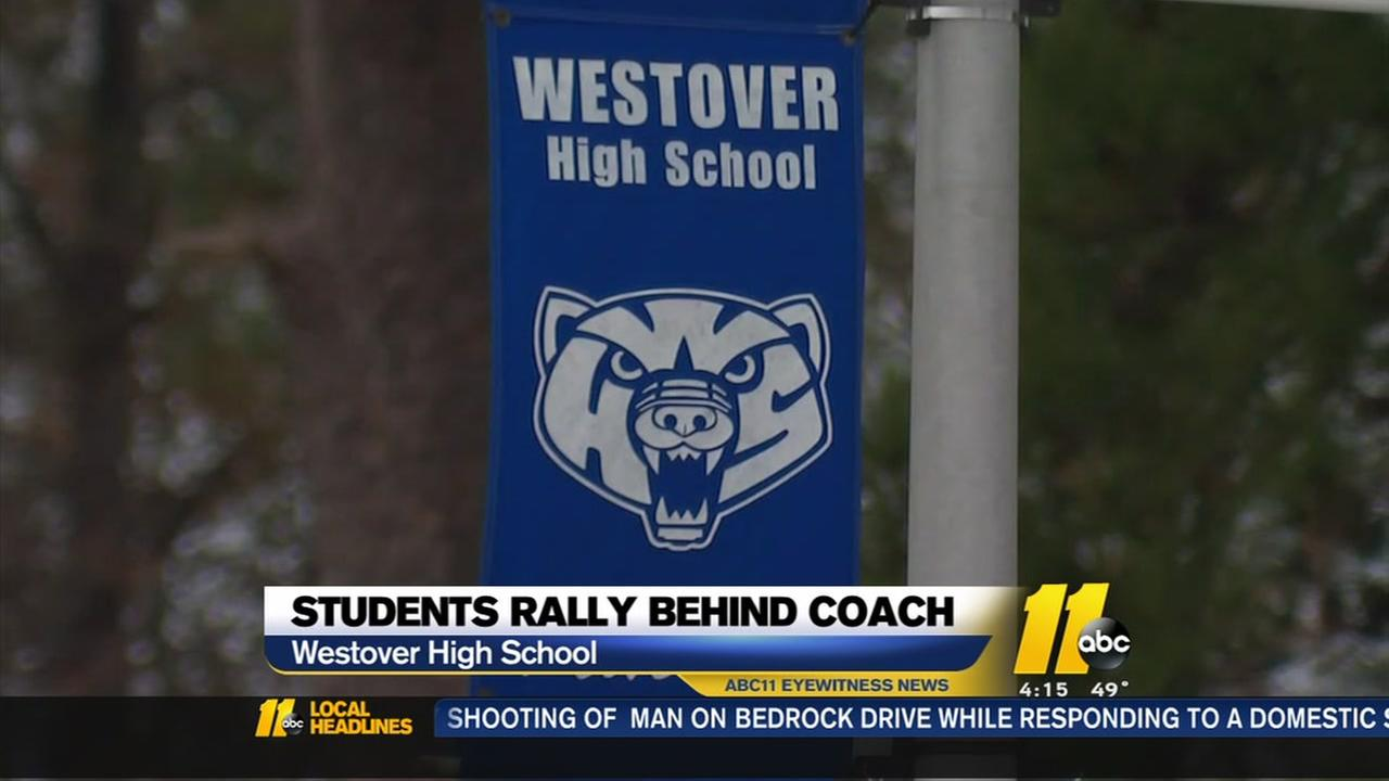 Students rally behind coach