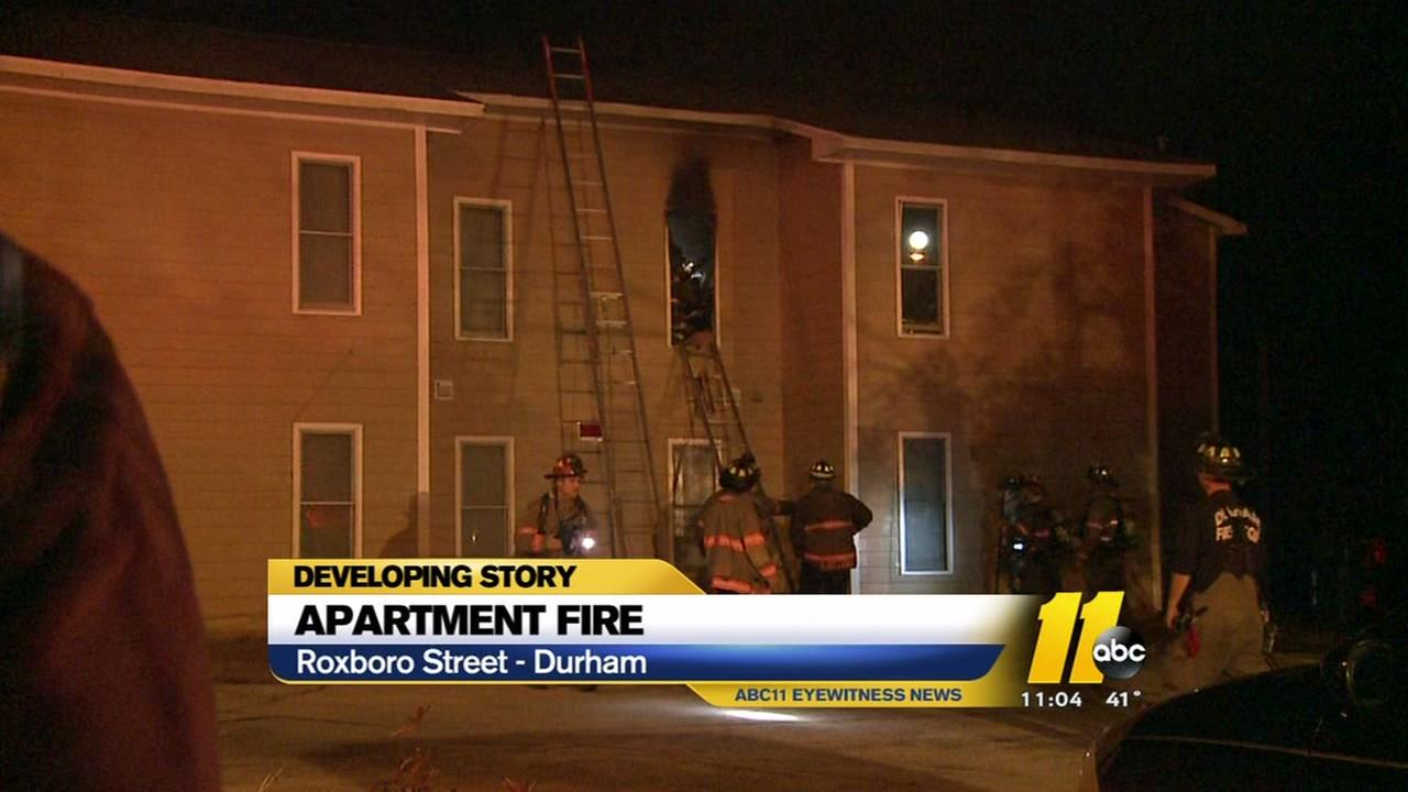 Apartment fire in Durham
