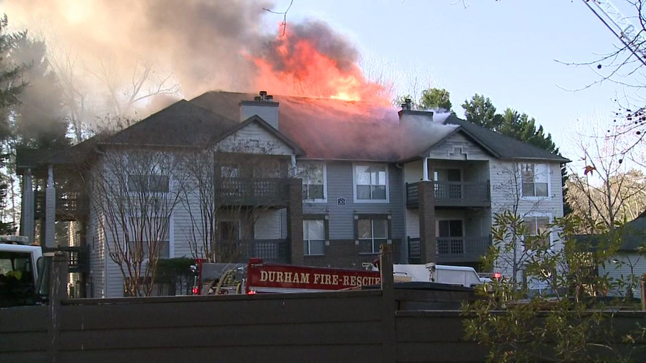 Fire damages Durham apartment complex