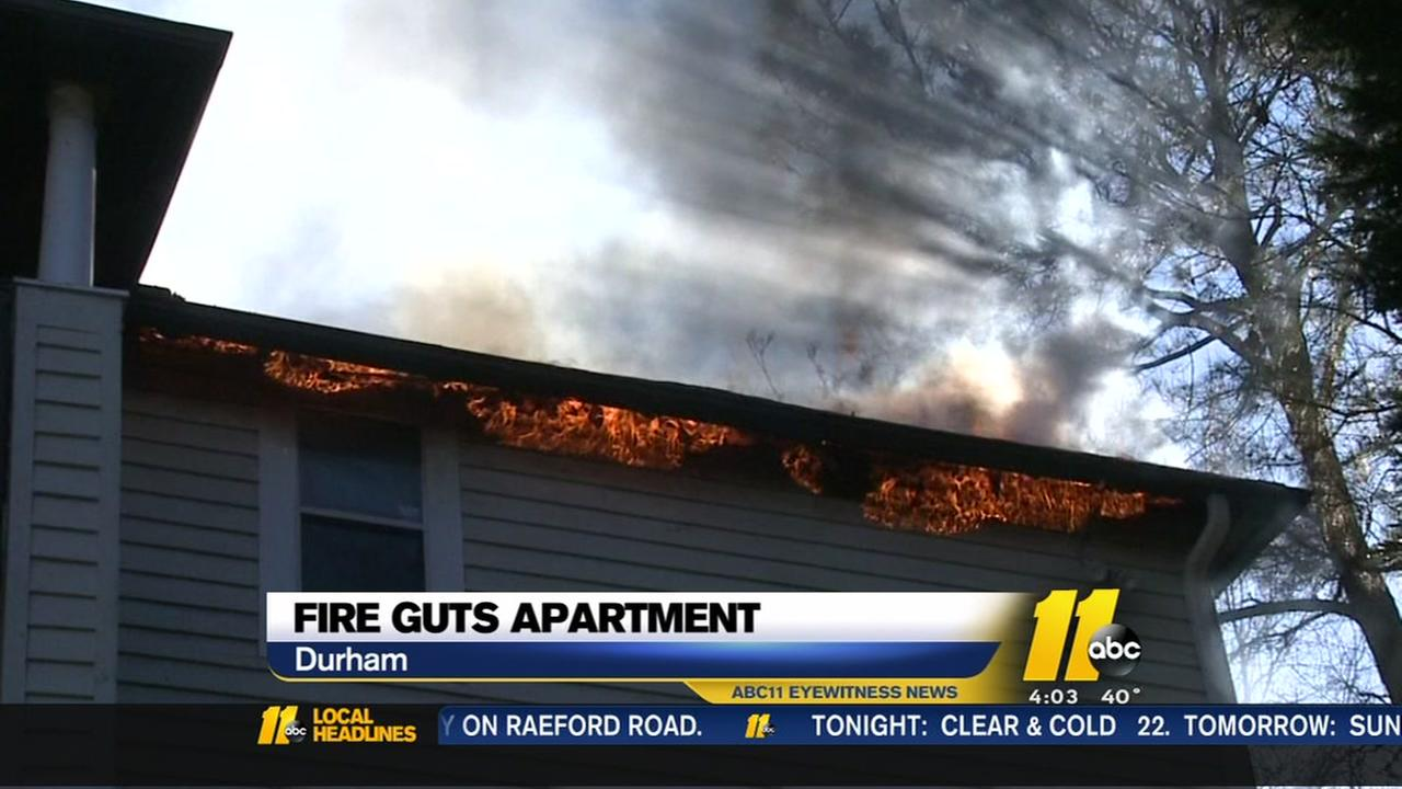 Fire guts apartment in Durham