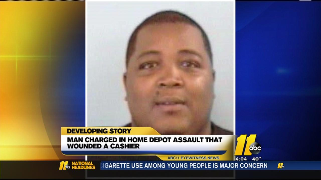 Man charged in Home Depot punchout